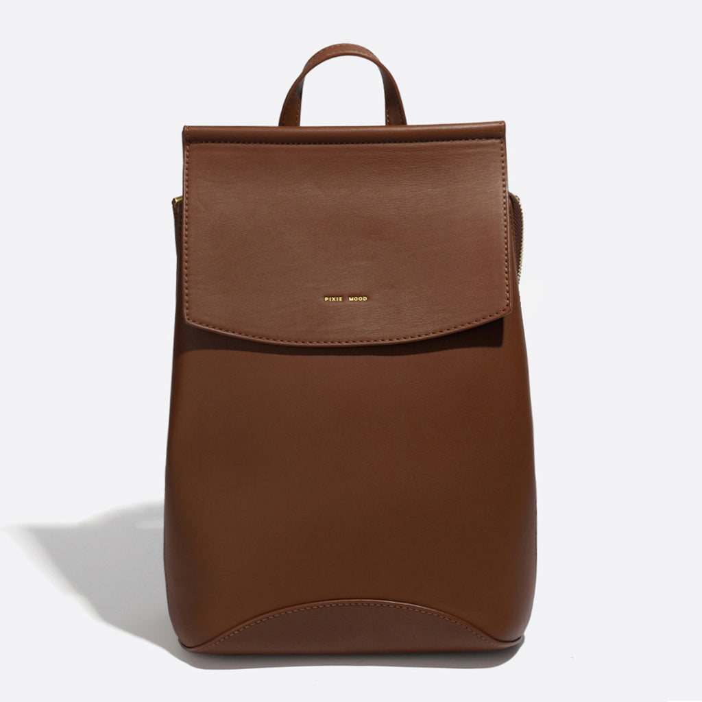 Pixie Mood Kim backpack dark oak front