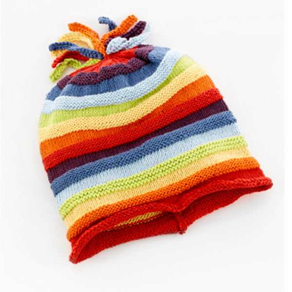 Pebble Rainbow Stripey Hat for Baby