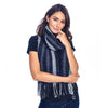 Shupaka scarf boucle charcoal with model