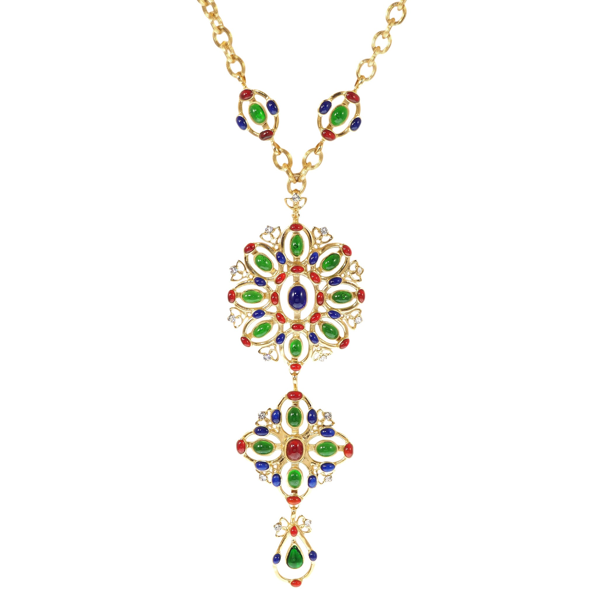 Plumetis Long Statement Necklace