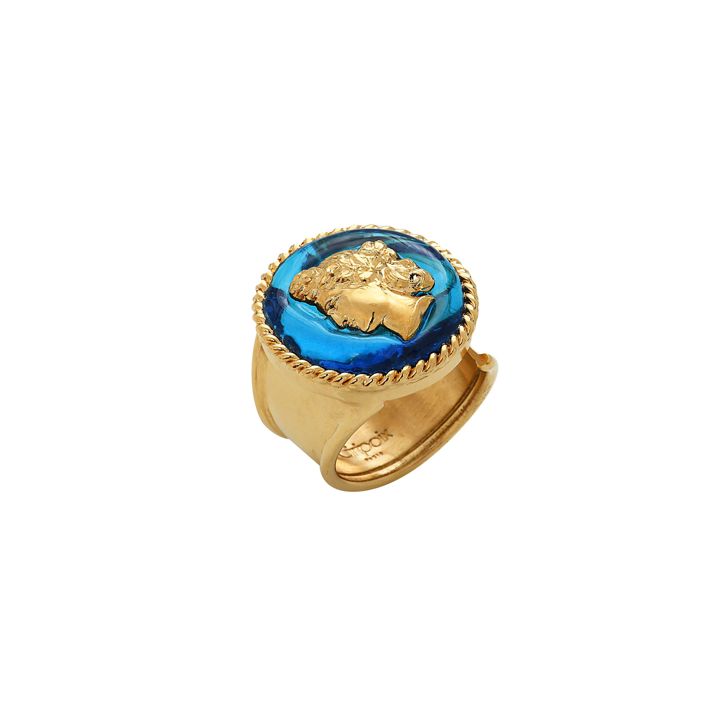 Back to Rome Adjustable Cameo Ring