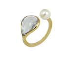 Camelia Forever Petal-Shaped Adjustable Ring