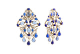 Plumetis Clip Drop Earrings