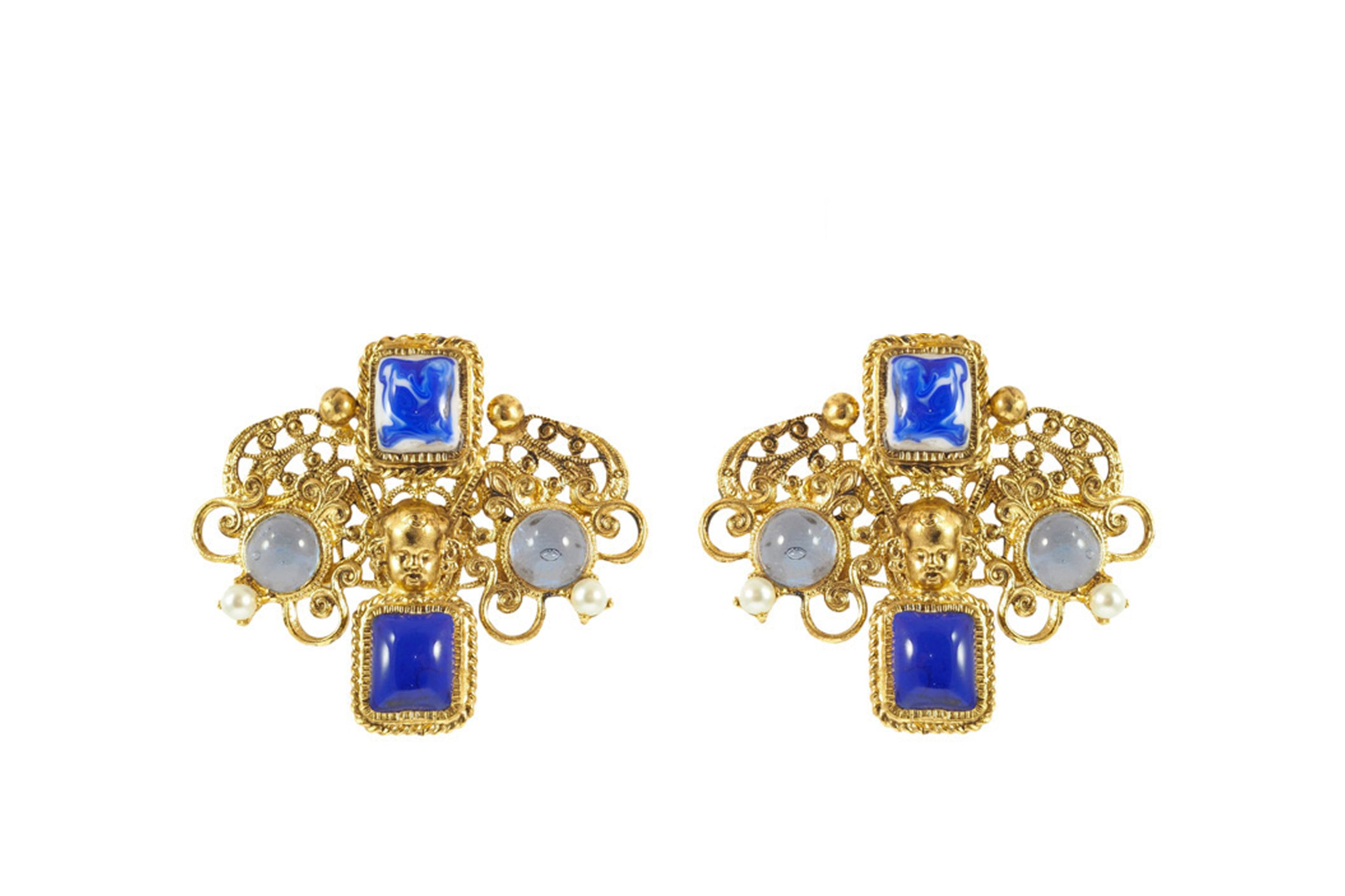 Azulejos Short Clip Earrings
