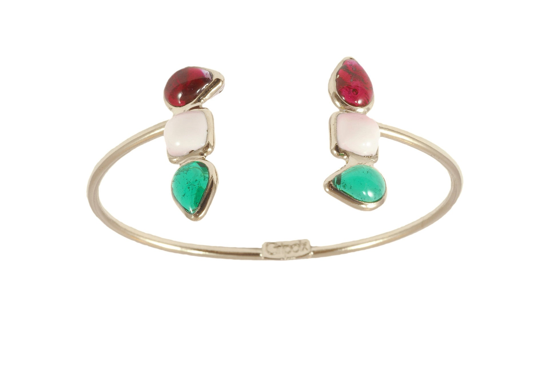 Geometric double shape bracelet