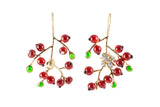 Red Currant Pierced Drop Earrings