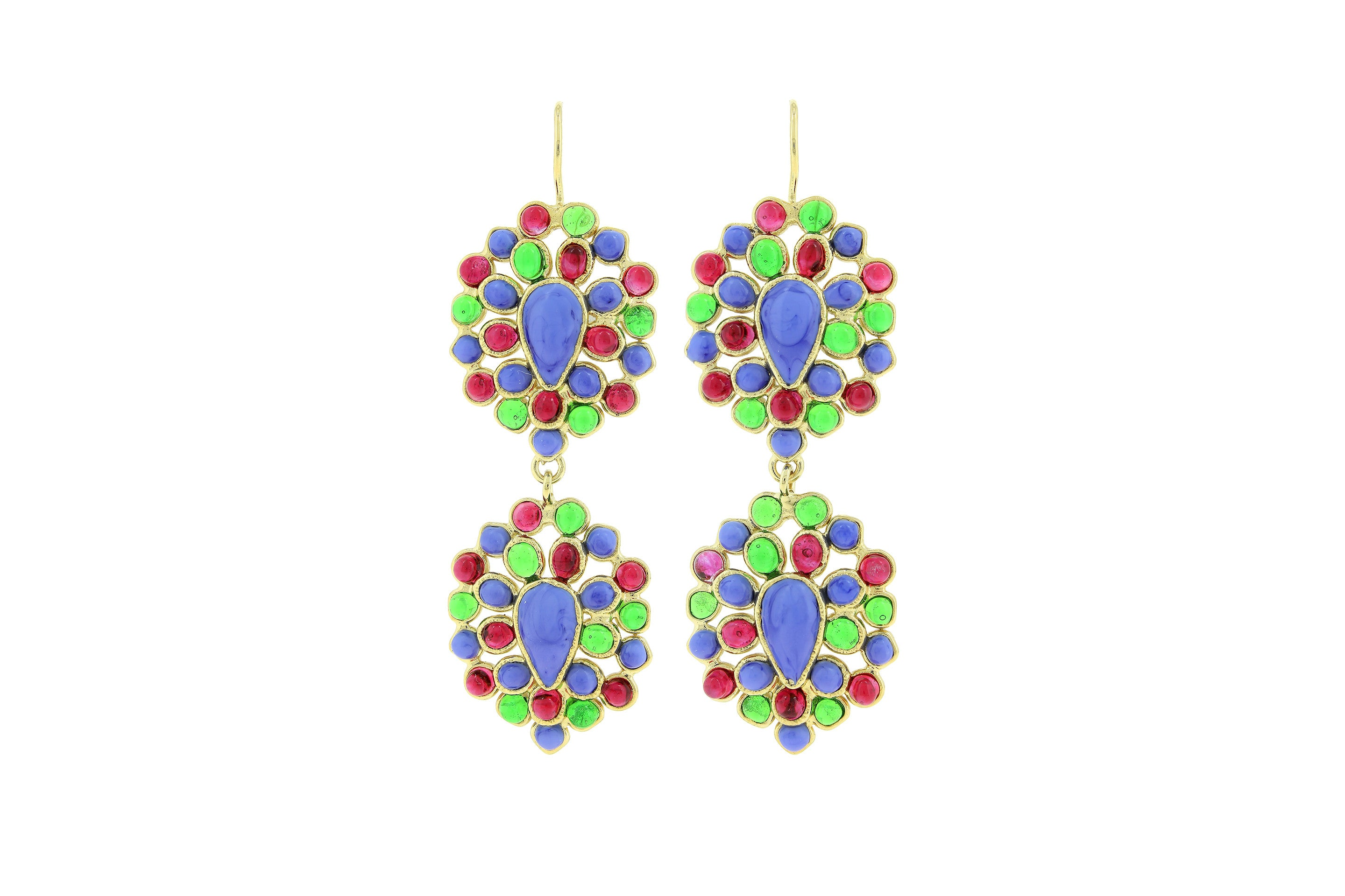 Jaïpur Long Pierced Drop Earrings