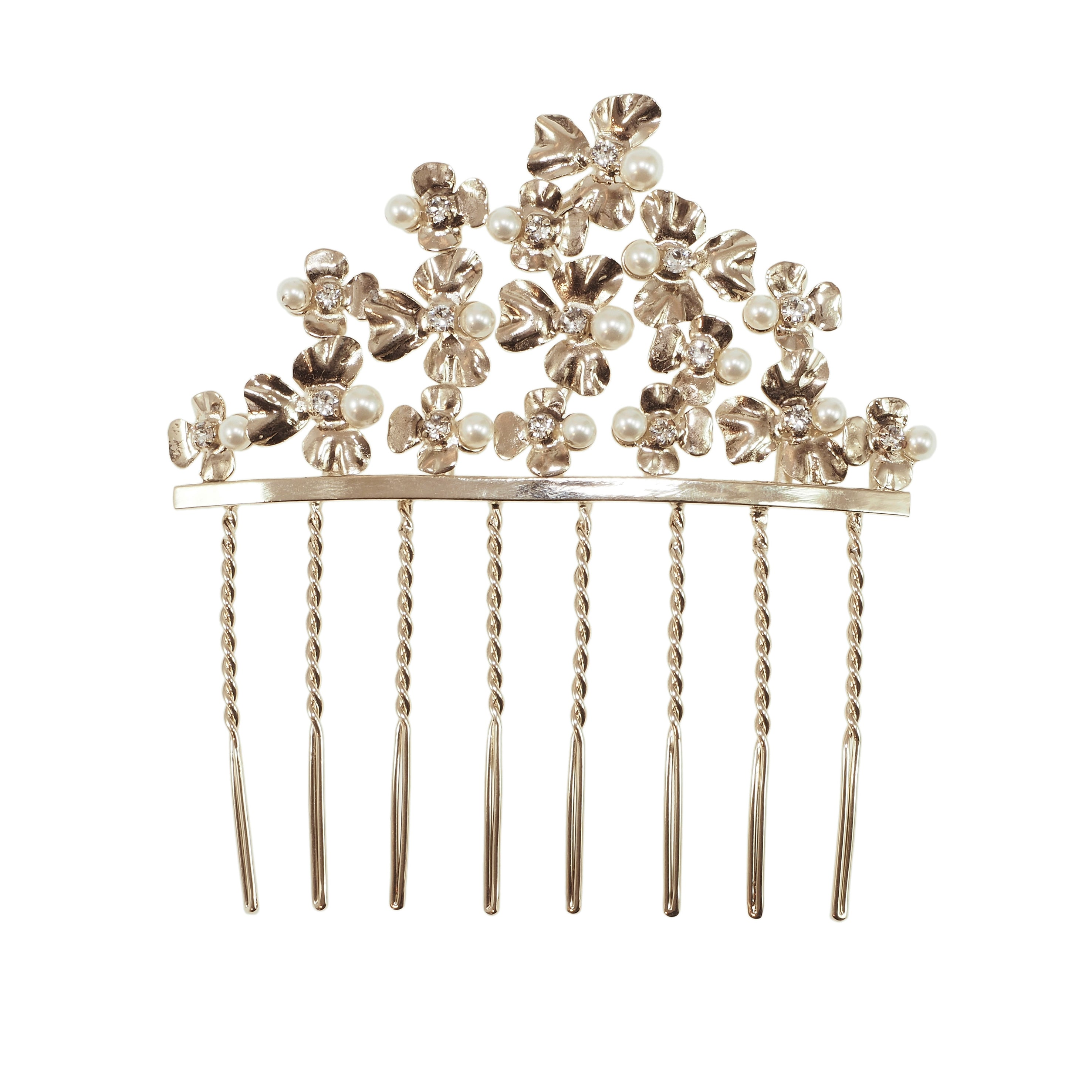 Water Flower Large Hair Comb