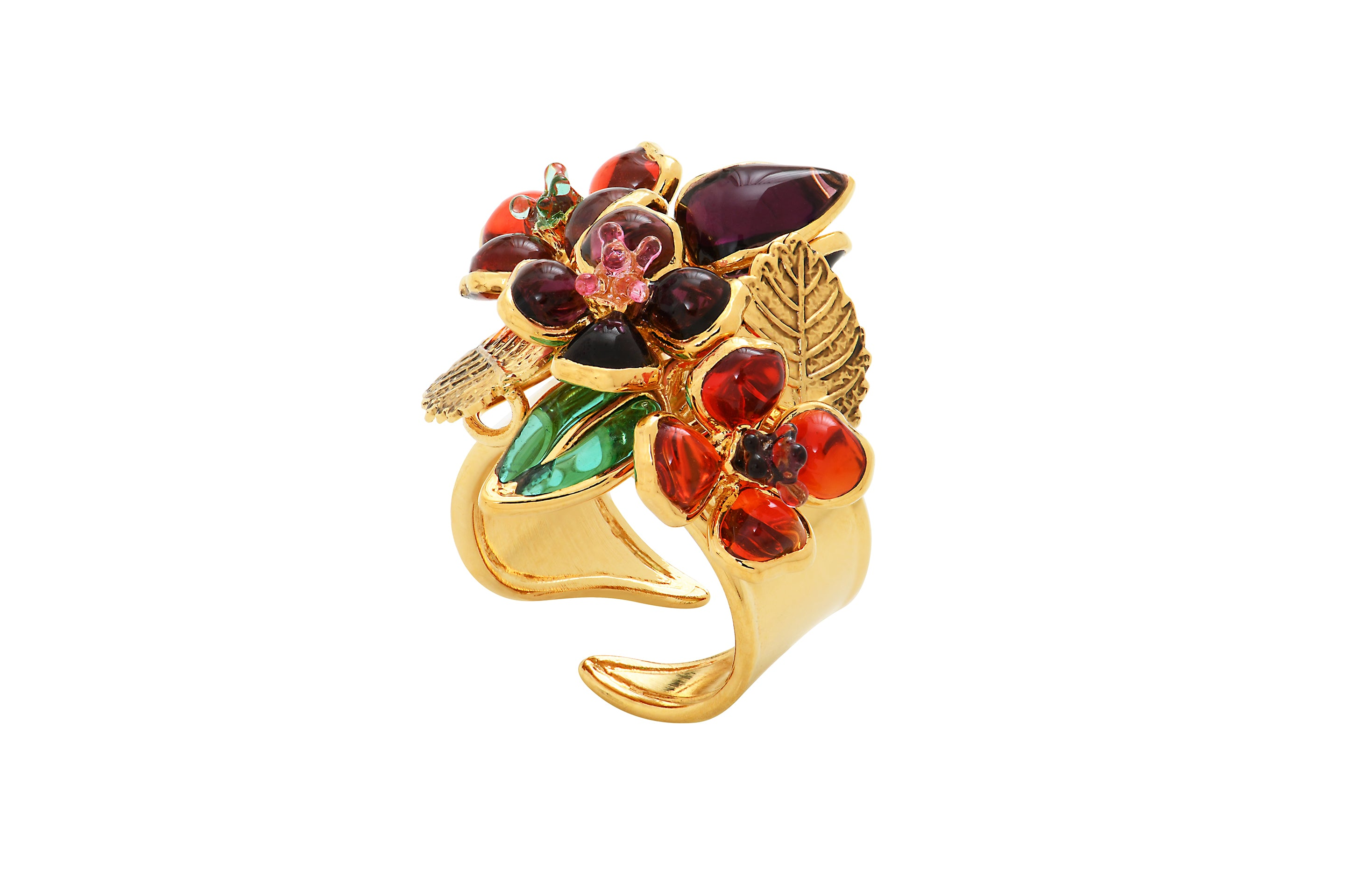 Pop Glamour Adjustable Bouquet Ring