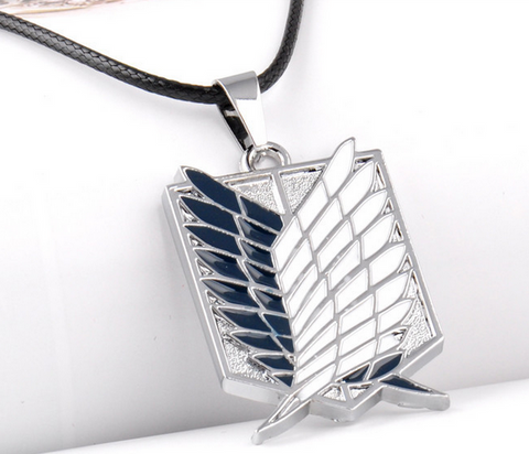 Metal Anime Attack on Titan Wings of Liberty Pendant Necklace