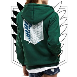 New fashion Attack on Titan Cosplay Hoodie Coat