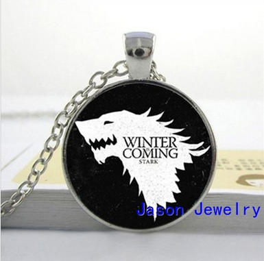 Game of thrones House Stark necklace