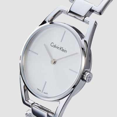 9ca3a55be3 ck Calvin Klein Women s K7L23146 Dainty Silver Polished Brushed 30 mm Watch