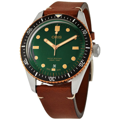 01 733 7707 4357-07 5 20 45-Oris 01 733 7707 4357-07 5 20 45 Divers 65 Green Dial Watch