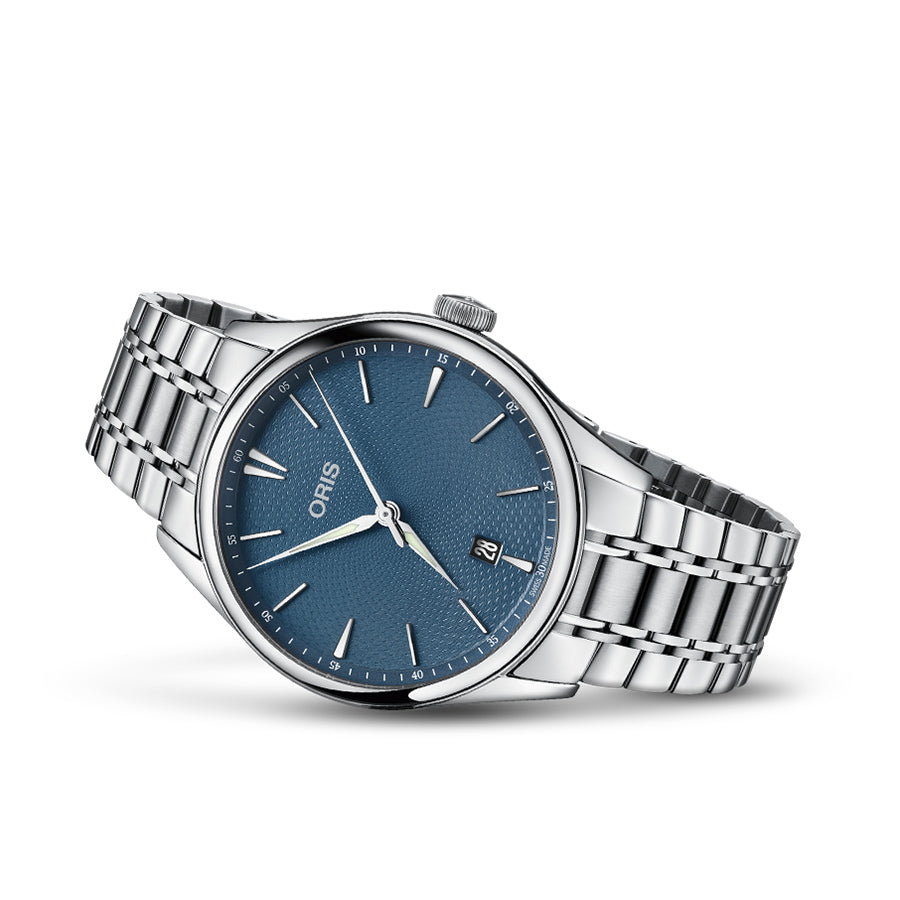 01 733 7721 4055-07 8 21 88-Oris 01 733 7721 4055-07 8 21 88 Artelier Blue Dial Watch