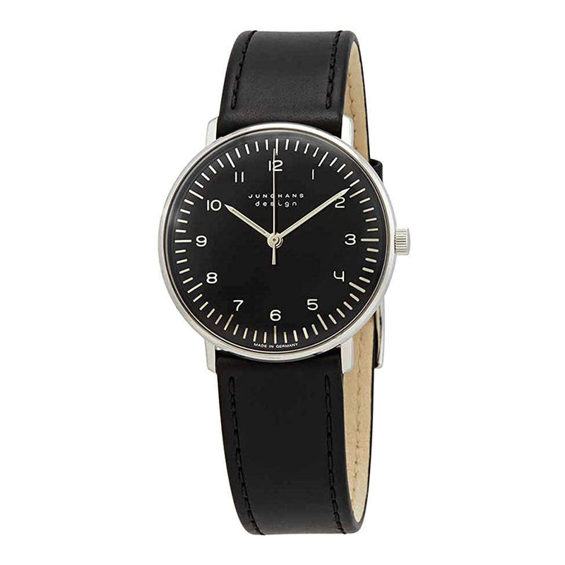 027/3702.04-Junghans Men's 027/3702.04 Max Bill Black Dial Watch