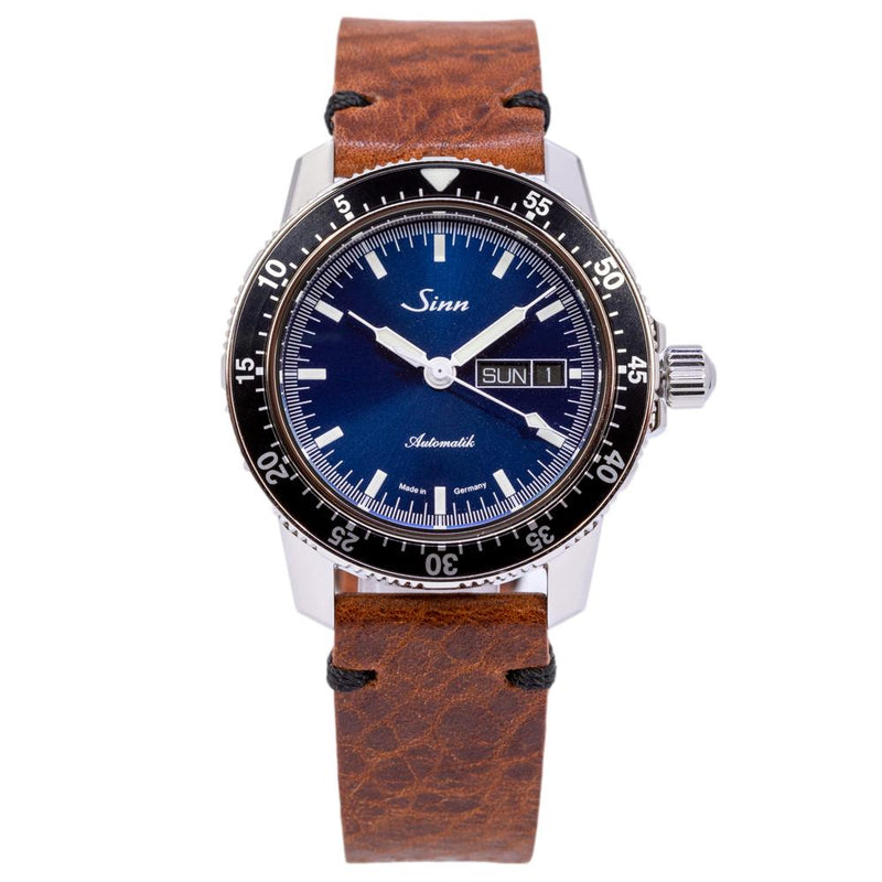 104.013-Sinn Men's 104.013 Pilot 104 St Sa I B Blue Dial Watch
