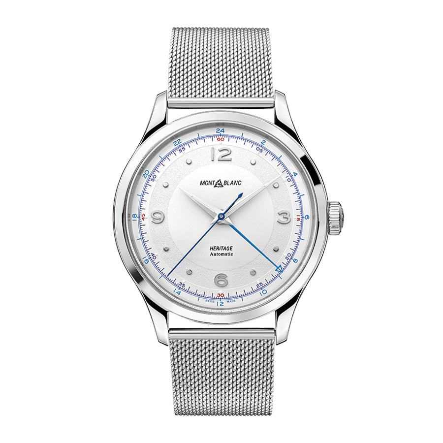 119949-Montblanc Men's 119949 Heritage GMT Silver Dial Watch