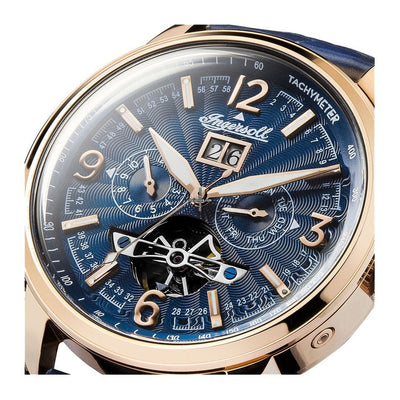INI00301-Ingersoll Men's  I00301 The Regent Auto Blue Dial Watch