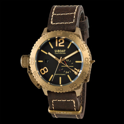 U-BOAT MEN'S 9008 DOPPIOTEMPO 46 BRONZE BR WATCH