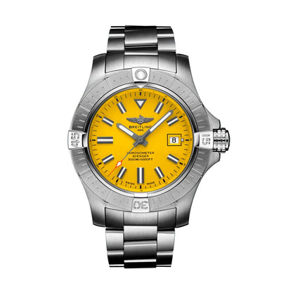 A1731910111X1-Breitling A1731910111X1 Avenger Yellow Dial Watch