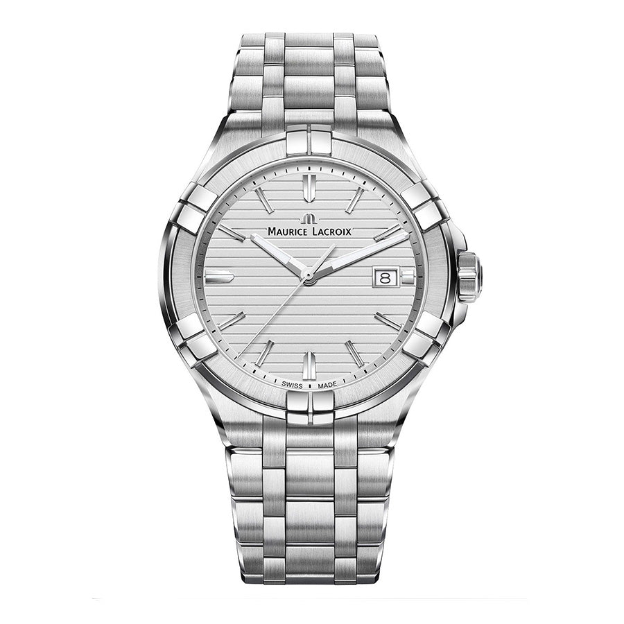 AI1008-SS002-131-1-Maurice Lacroix AI1008-SS002-131-1 Aikon Date Silver 42mm