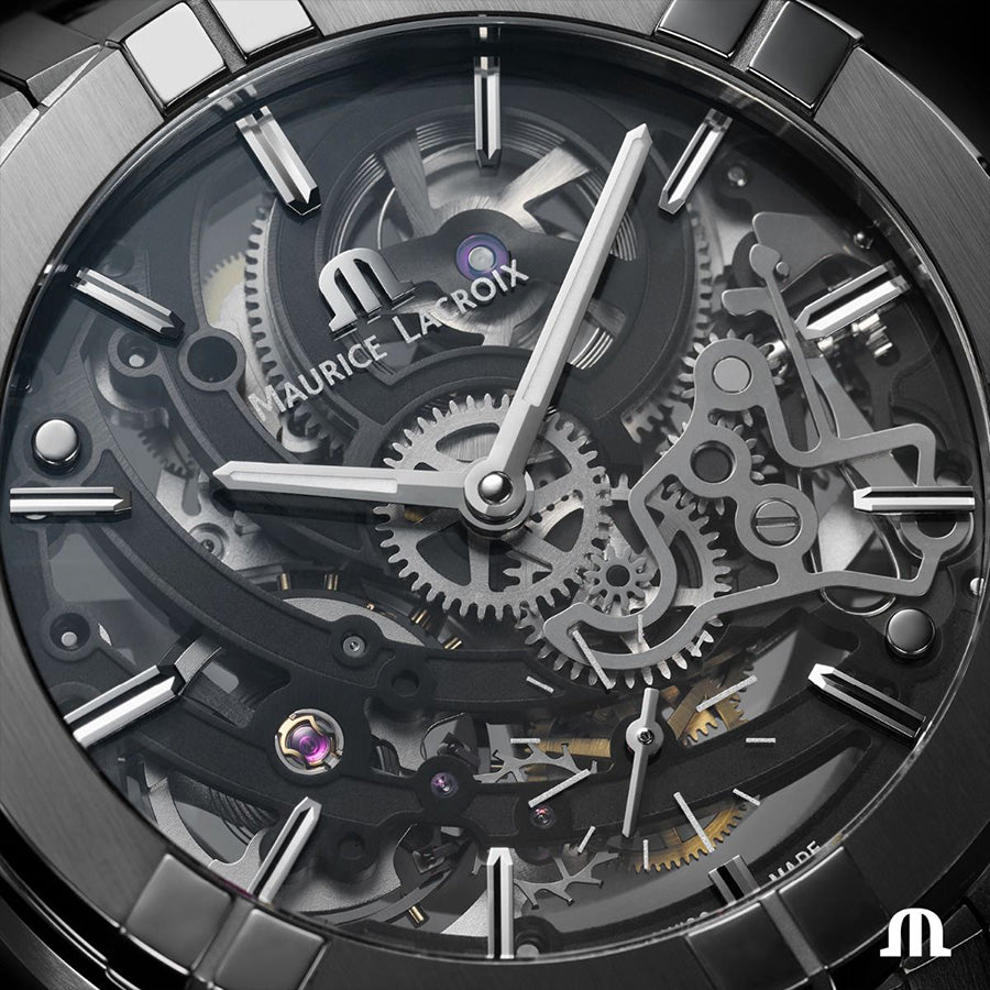 AI6028-SS001-030-1-Maurice Lacroix AI6028-SS001-030-1 Skeleton 45mm
