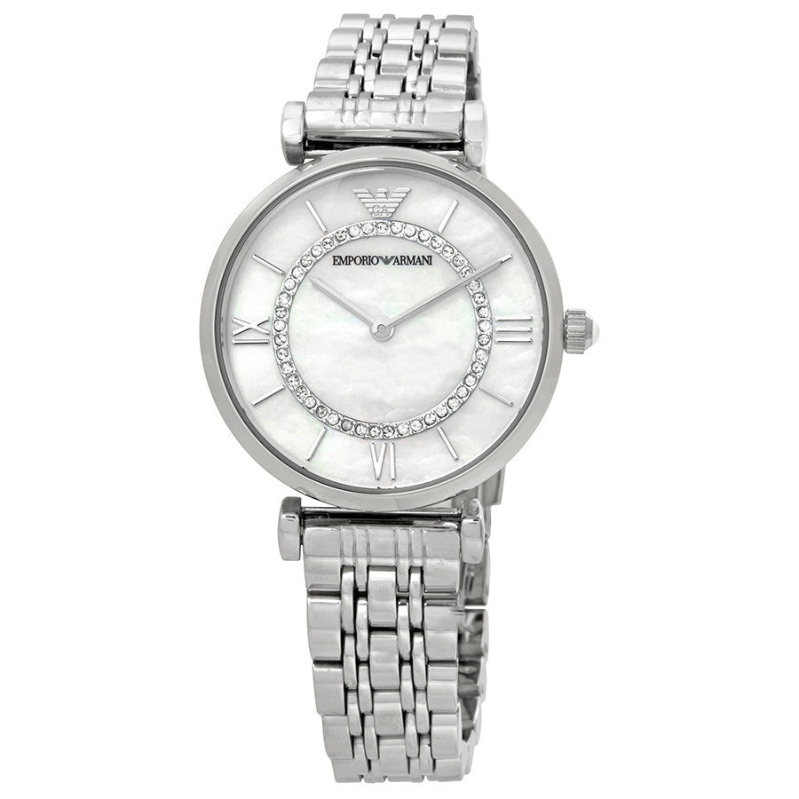 AR1908-Emporio Armani Ladies AR1908 MoP Dial with Diamonds Watch