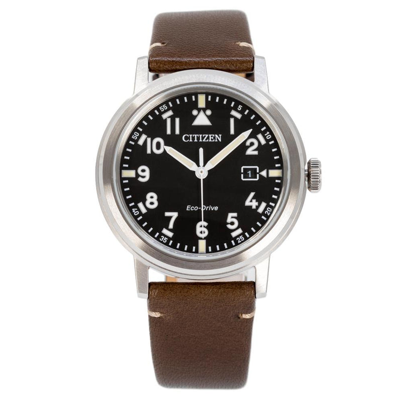 AW1620-21E-Citizen Men's AW1620-21E Military Black Dial Watch