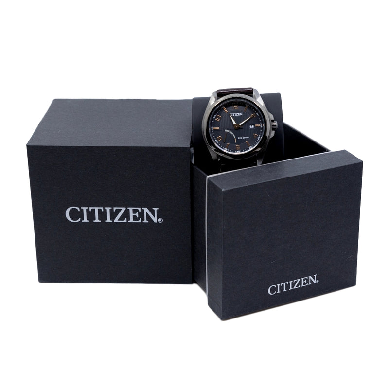 AW7057-18H-Citizen Men's AW7057-18H Eco-Drive Black Dial Watch