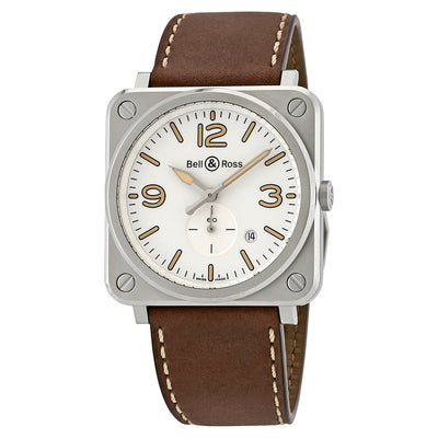 BRS-WHERI-ST/SCA-Bell&Ross Men's BRS-WHERI-ST/SCA Heritage White Dial Watch