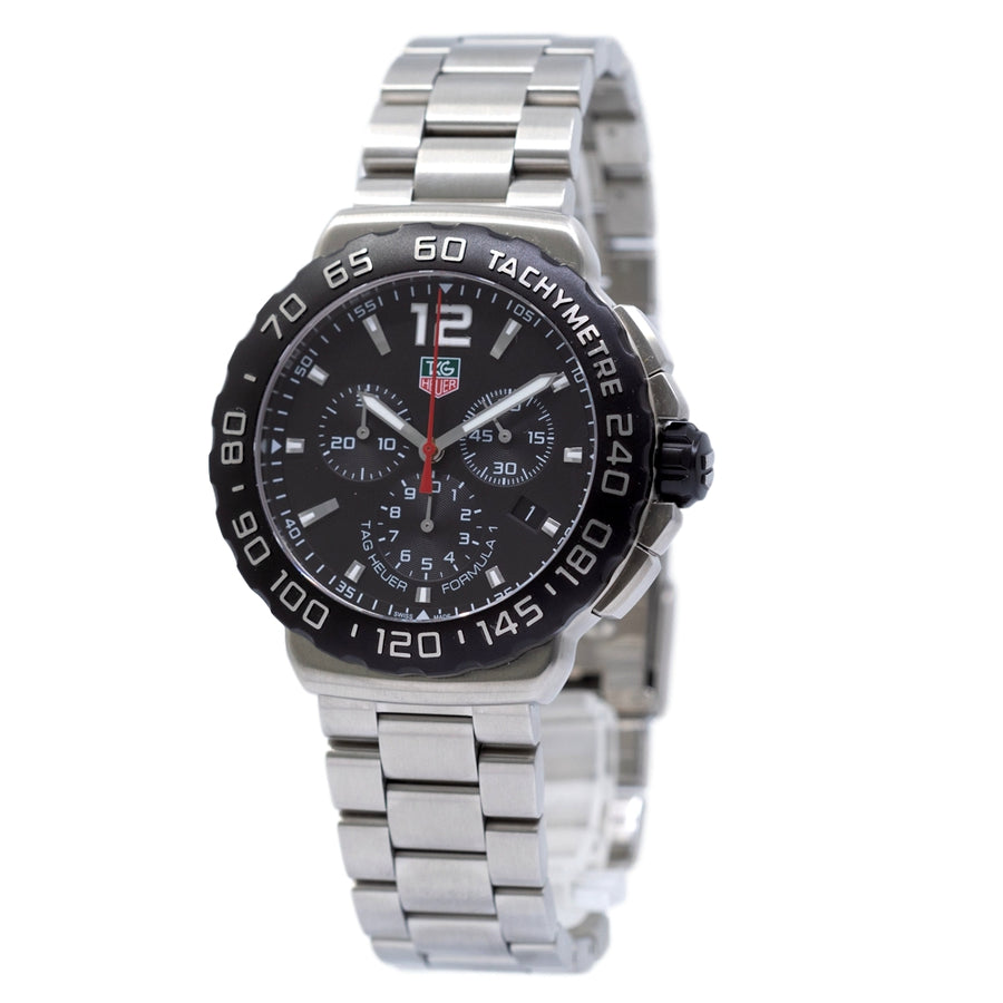 CAU1110.BA0858-Tag Heuer CAU1110.BA0858 F1 Chronograph Black Dial Watch