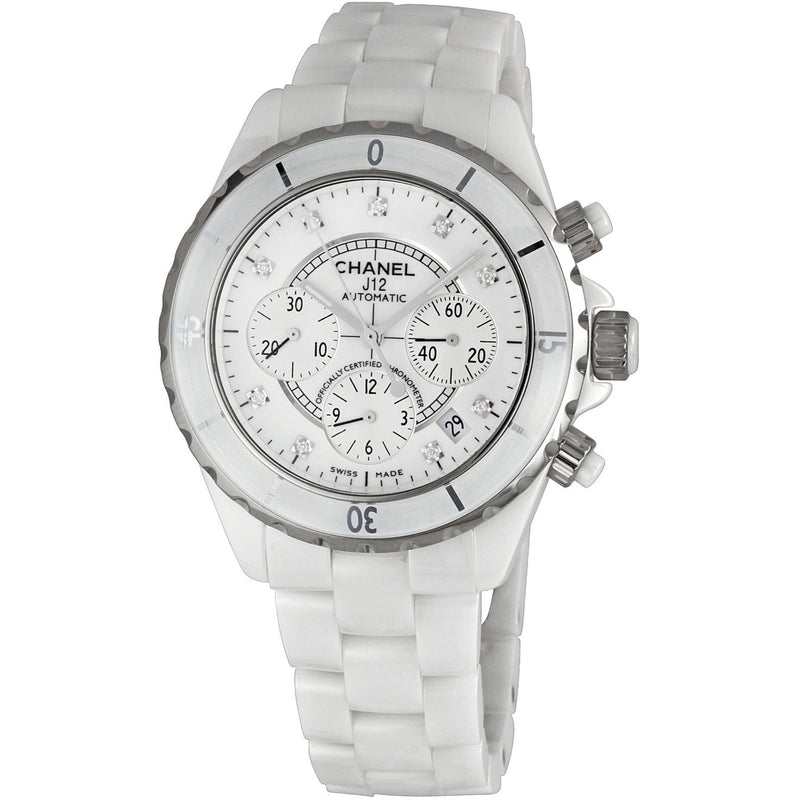 Chanel H2009 Ceramic Chronograph Diamond Unisex Watch