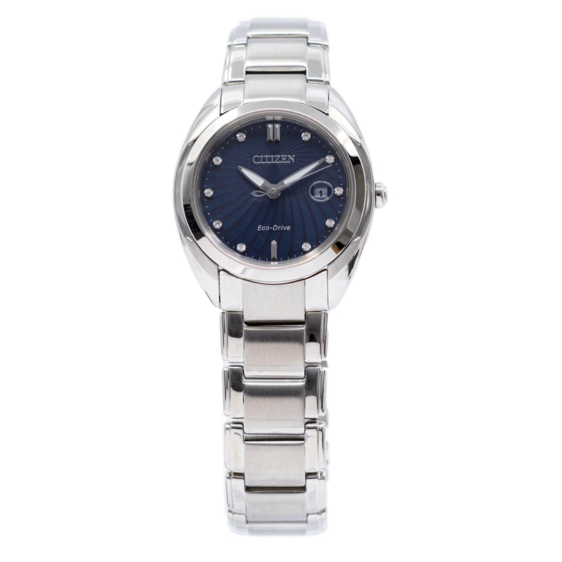 EM0310-61L-Citizen Ladies EM0310-61L Blue Dial Diamonds Watch