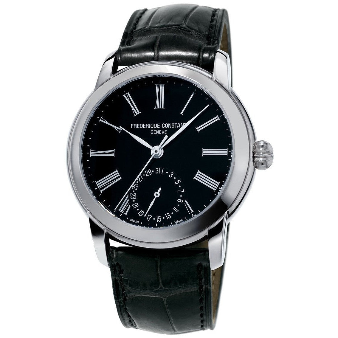 Frederique Constant Men's FC-710MB4H6 Manufacture Slimline Moonphase Watch