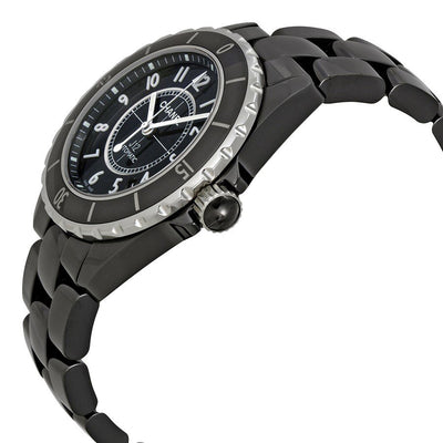 H0685-Unisex H0685 J12 Automatic Ceramic Black Dial Watch