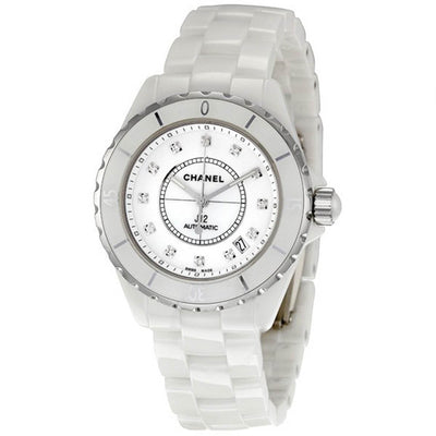 H1629-Chanel H1629 J12 White Ceramic Diamonds Watch