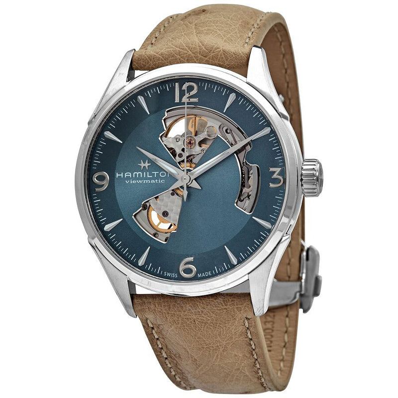 H32705842-Hamilton Men's H32705842 Jazzmaster Open Hearth Blue Watch