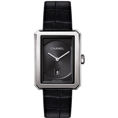 Chanel H4884 Black Dial Boy-Friend Steel Ladies Watch