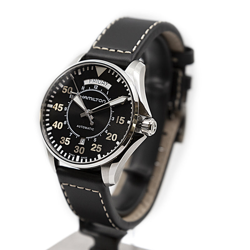 H64615735-Hamilton Men's H64615735 Khaki Aviation Pilot Day Date Watch