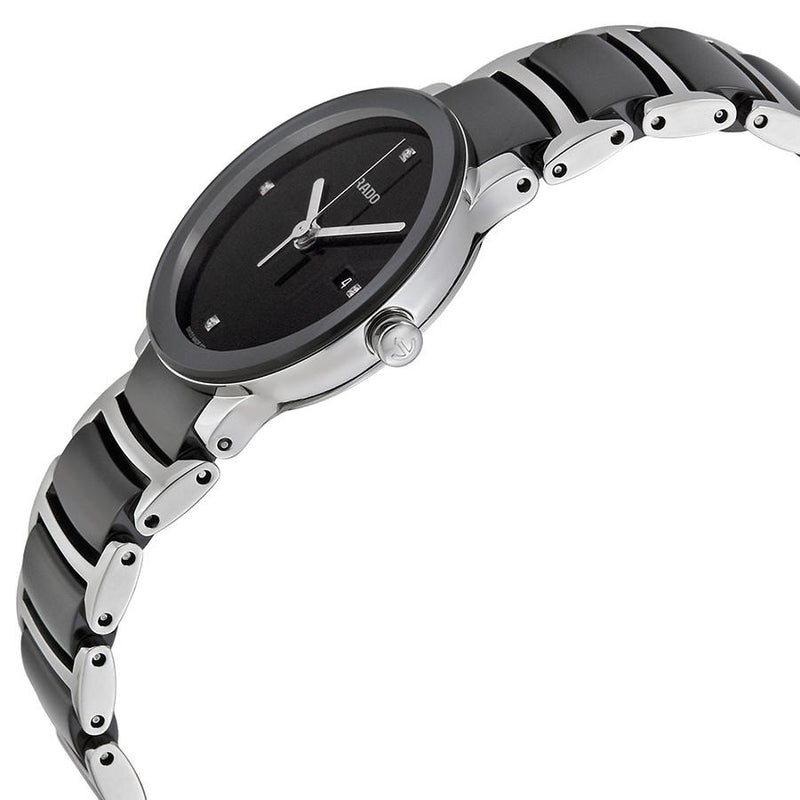 R30935712-Rado Ladies R30935712 Centrix S Black Dial Diamonds Watch