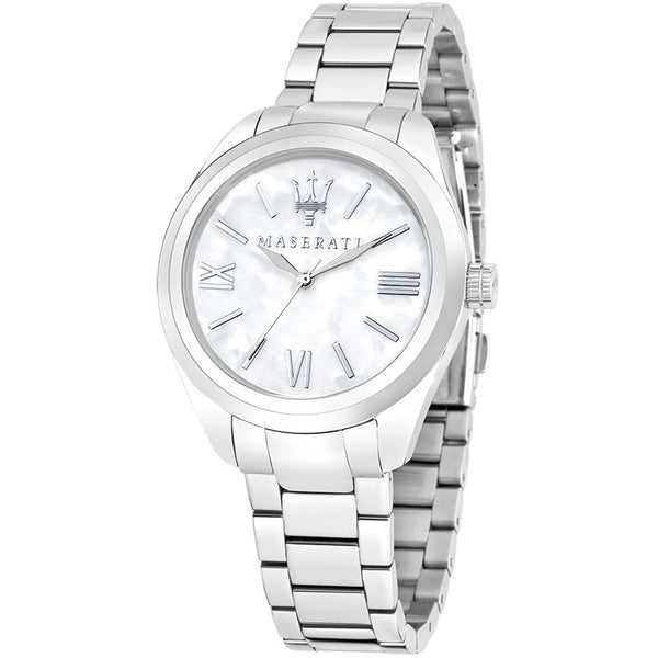 Maserati Women`s R8853112501 Pole Position Analog Display Quartz Silver Watch