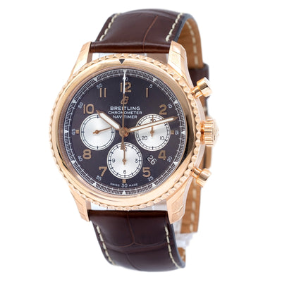 RB0117131Q1P1-Breitling RB0117131Q1P1 Aviatior Chronograph Red Gold Watch