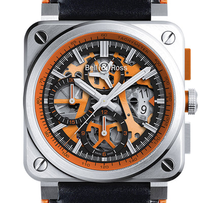 Bell & Ross Men's BR0394-SC-ORA/SCA AÉRO GT ORANGE Ed. Lim. 500 pcs