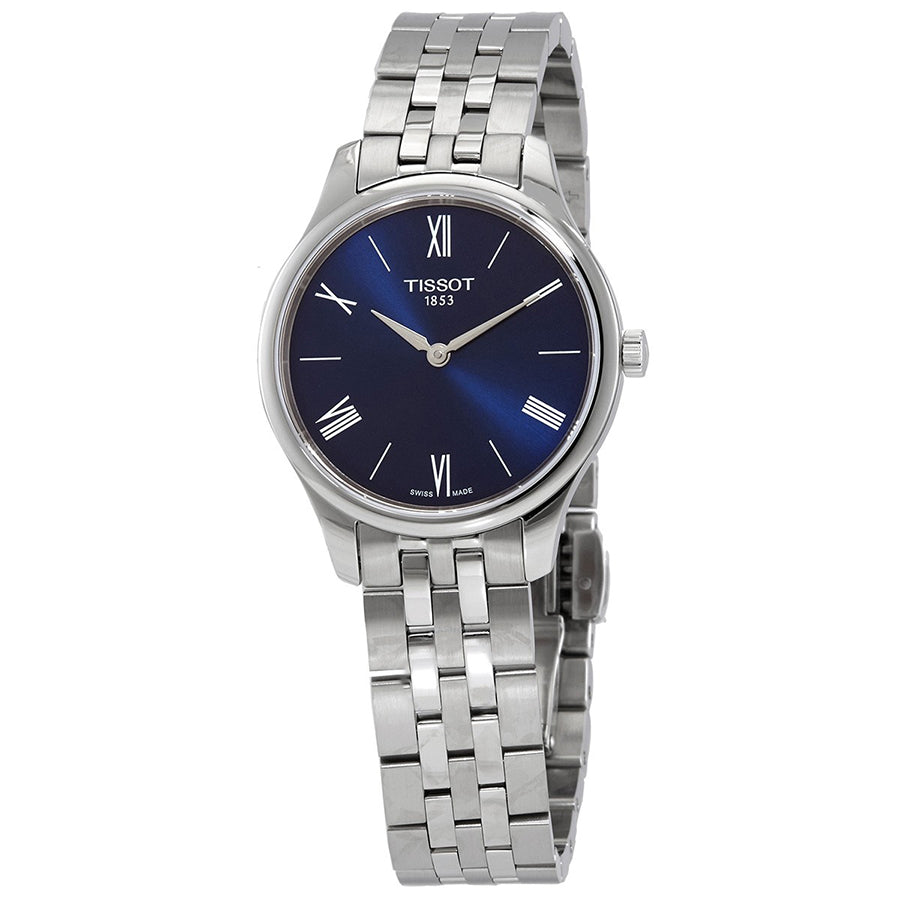 T063.209.11.048.00-Tissot Ladies T063.209.11.048.00 Tradition Blue Dial Watch