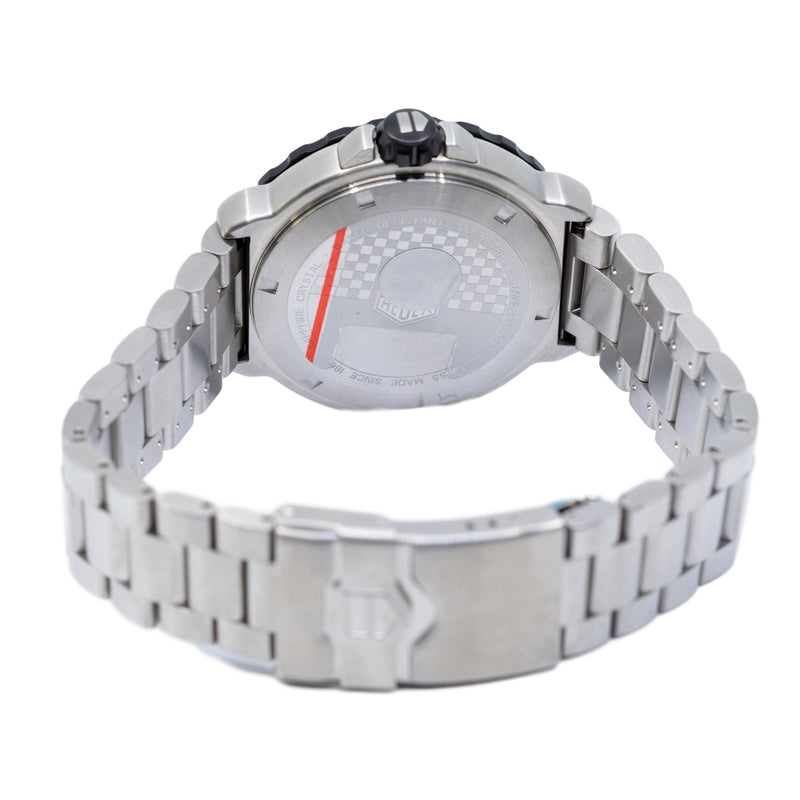 WAU1111.BA0858-Tag Heuer Men's WAU1111.BA0858 F1 White Dial Watch