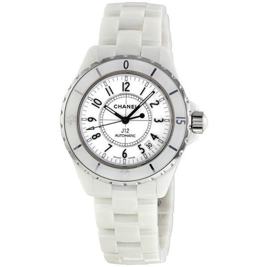 Chanel H0970 White Ceramic Automatic 38mm Watch