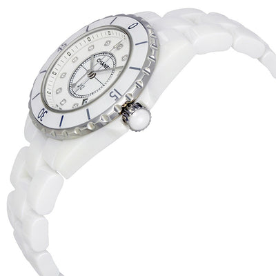 Chanel Ladies H1628 J12 White Quartz Diamonds Watch