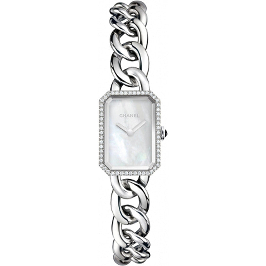 0d76cde8 Chanel Ladies H3253 Quartz Première Chaîne Steel & Diamonds Watch
