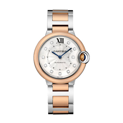 Cartier W3BB0013 Ballon Bleu Rosé-Gold, Steel & Diamond Watch